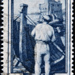 ITALY - CIRCA 1950: A stamp printed in Italy shows image of lo scalo (liguria), circa 1950 — Stock Photo