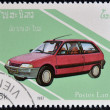 LAOS- CIRCA 1987: A stamp printed in Laos dedicated to cars shows Renault 5, circa 1987  — Stock Photo