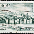MOROCCO - CIRCA 1949: A stamp printed in Morocco shows fortified city, circa 1949 — Stock Photo