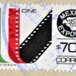 MEXICO - CIRCA 1987: a stamp printed in the Mexico shows cine-film, Mexican Export, circa 1987  — Stock Photo