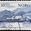 NORWAY - CIRCA 1981: A stamp printed in Norway shows ship Storegut, circa 1981  — Stock Photo