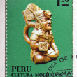 PERU - CIRCA 1972: A stamp printed in Peru dedicated to Mochica culture, shows Ceramic, circa 1972   — Stock Photo