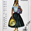 PERU - CIRCA 1972: A Stamp printed in Peru dedicated to costumes and traditional dances of Peru, shows Catacaos piura, circa 1972 — Stock Photo