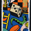UNITED KINGDOM - CIRCA 1989: A stamp printed in Great Britain dedicated to games and toy, shows Dice and Board Games, circa 1989 — Stock Photo
