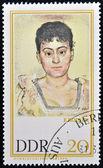 Německo - cca 1980: známka vytištěna ve východním německu ukazuje portrét madame de r. ferdinand hodler, cca 1980 — Stock fotografie
