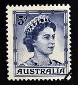 AUSTRALIA - CIRCA 1959: A stamp printed in Australia shows Queen Elizabeth II, circa 1959. — Stock Photo