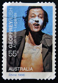 AUSTRALIA - CIRCA 2009: A stamp printed in australia shows Australian Legends of the Screen - Geoffrey Rush, Shine 1996, circa 2009 — Zdjęcie stockowe