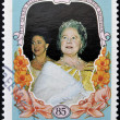SIERRA LEONE - CIRCA 1985: A stamp printed in sierra Leone shows the Queen Mother, Mother of Queen Elizabeth 2nd, circa 1985 — Stock Photo