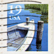 UNITED STATES OF AMERICA - CIRCA 1991: A stamp printed in USA shows fishing boat, circa 1991 — Stock Photo