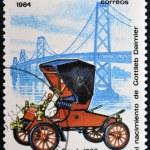 NICARAGUA - CIRCA 1984: A stamp printed in Nicaragua shows vintage car, circa 1984 — Stock Photo #38203483