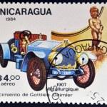 NICARAGUA - CIRCA 1984: A stamp printed in Nicaragua shows vintage car, circa 1984 — Stock Photo #38203497