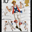 UNITED KINGDOM - CIRC1976: stamp printed in Great Britain dedicated to British Cultural Traditions shows Morris dancing, circ1976. — Stock Photo #38203711