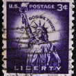 UNITED STATES OF AMERICA - CIRCA 1930: A stamp printed in USA shows image of The Statue of Liberty (Liberty Enlightening the World) circa 1930. — Stock Photo #38203899