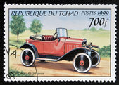 CHAD - CIRCA 1999: A stamp printed in Chad shows retro car Citroen 1919, France, circa 1999 — Stock Photo
