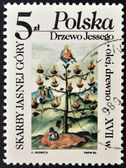POLAND - CIRCA 1986: A stamp printed in Poland shows skarby jasnej gory, circa 1986 — Stock Photo