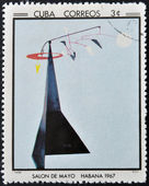 CUBA - CIRCA 1968: Stamp printed in Cuba commemorative to May Salon, 1967, shows Frisco by Calder, circa 1968 — Stock Photo
