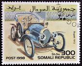 SOMALIA - CIRCA 1998: stamp printed in Somali republic shows retro car, Bugatti, 1913, circa 1998. — Foto de Stock