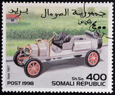 SOMALIA - CIRCA 1998: stamp printed in Somali republic shows retro car, Itala, 1907, circa 1998. — Foto de Stock