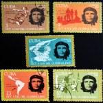 CUBA - CIRCA 1968 : stamps printed in Cuba shows Ernesto Che Guevara- legendary guerrilla, circa 1968 — Stock Photo
