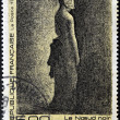 FRANCE - CIRC1991: stamp printed in France shows black node by Georges Seurat, circ1991 — Stock Photo #38508377