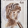 Stock Photo: FRANCE - CIRC1982: stamp printed in France shows Young Greek Soldier, Hellenic Sculpture, Agude, circ1982