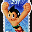 JAPAN - CIRC2011: stamp printed in Japshows Astro Boy, circ2011 — Stock Photo #38509915