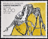 FRANCE - CIRCA 1985: a stamp printed in France shows The Dog, Abstract by Alberto Giacometti, circa 1985 — Stock Photo