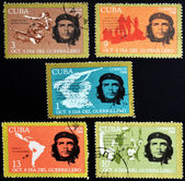 CUBA - CIRCA 1968 : stamps printed in Cuba shows Ernesto Che Guevara- legendary guerrilla, circa 1968 — Stock Photo