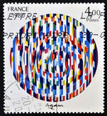 FRANCE - CIRCA 1980: a stamp printed in France shows Message of Peace, Painting by Yaacov Agam, circa 1980 — Stock Photo