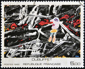 FRANCE - CIRCA 1985: A stamp printed in France shows painting by Dubuffet, circa 1985 — Stock Photo