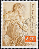 FRANCE - CIRCA 1999: A stamp printed in France shows a sculpture by Jean Goujon, circa 1999 — Stock Photo