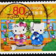 Stock Photo: JAPAN - CIRC2011: stamp printed in Japshows Hello Kitty and Dear Daniel, circ2011