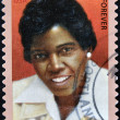 UNITED STATES OF AMERICA - CIRCA 2011: A stamp printed in USA shows Barbara Jordan, black heritage, circa 2011 — Stock Photo