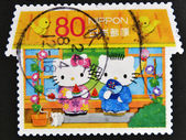 JAPAN - CIRCA 2011: A stamp printed in Japan shows Hello Kitty and Dear Daniel, circa 2011 — Stock Photo