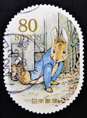 JAPAN - CIRCA 2011: a stamp printed in Japan shows Peter Rabbit, Childrens book, circa 2011 — Stock Photo