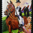 AUSTRALIA - CIRCA 2010: A stamp printed in Australia shows a dressage, circa 2010 — Stock Photo