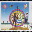 BERMUDA - CIRCA 2000: A stamp printed in Bermuda shows kite flying, circa 2000 — Stock Photo