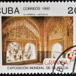 CUBA - CIRCA 1982: A stamp printed in Cuba shows Alhambra, Spain, circa 1982 — Foto Stock
