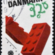 DENMARK - CIRCA 1989: a stamp printed in Denmark shows Lego Blocks, Childrens toys, circa 1989 — Stock Photo #40001279
