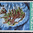 ICELAND - CIRC1972: stamp printed in Iceland shows contour map and continental shelf, circ1972. — Stock Photo #40001417