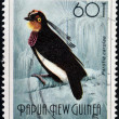 PAPUA NEW GUINEA - CIRCA 1992: A stamp printed in Papua shows bird of paradise, parotia carolae, circa 1992 — Stock Photo