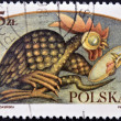 POLAND - CIRCA 1986: A stamp printed in Poland dedicated to Polish legends, shows The Basilisk, circa 1986 — Stock Photo