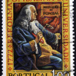 PORTUGAL - CIRC1972: stamp printed in Portugal shows Marquis of Pombal, Bicentenary of Pombaline Reforms of University of Coimbra, circ1972 — Zdjęcie stockowe #40001751