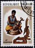 MALI - CIRCA 1970: A stamp printed in Mali dedicated to sculpture, circa 1970 — Stock Photo