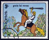 ROMANIA - CIRCA 1989: A stamp printed in Romania dedicated to Romanian cartoons, shows Gruia Novac, circa 1989 — Stockfoto