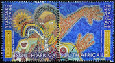 SOUTH AFRICA - CIRCA 2012: A stamp printed in RSA shows mural on the faculty of health sciences, University of Cape Town, circa 2012 — Stock Photo