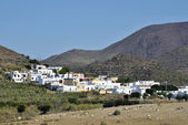 El Pozo de los Frailes in Cabo de Gata natural park, Almeria, Spain. Mediterranean seaside town — Stock Photo
