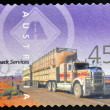 AUSTRALIA - CIRCA 2001: A stamp printed in Australia shows Outback Services, circa 2001 — Stock Photo