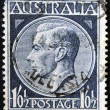 AUSTRALIA - CIRCA 1952: A stamp printed in Australia shows King George VI, circa 1952 — Stock Photo
