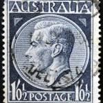 AUSTRALIA - CIRCA 1952: A stamp printed in Australia shows King George VI, circa 1952 — Stock Photo #41424655